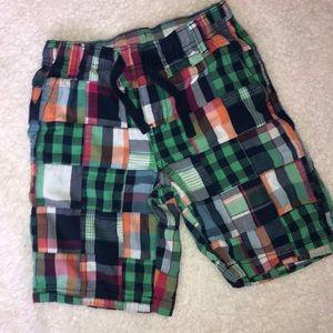 GYMBOREE. Plaid patchwork shorts. Size 7